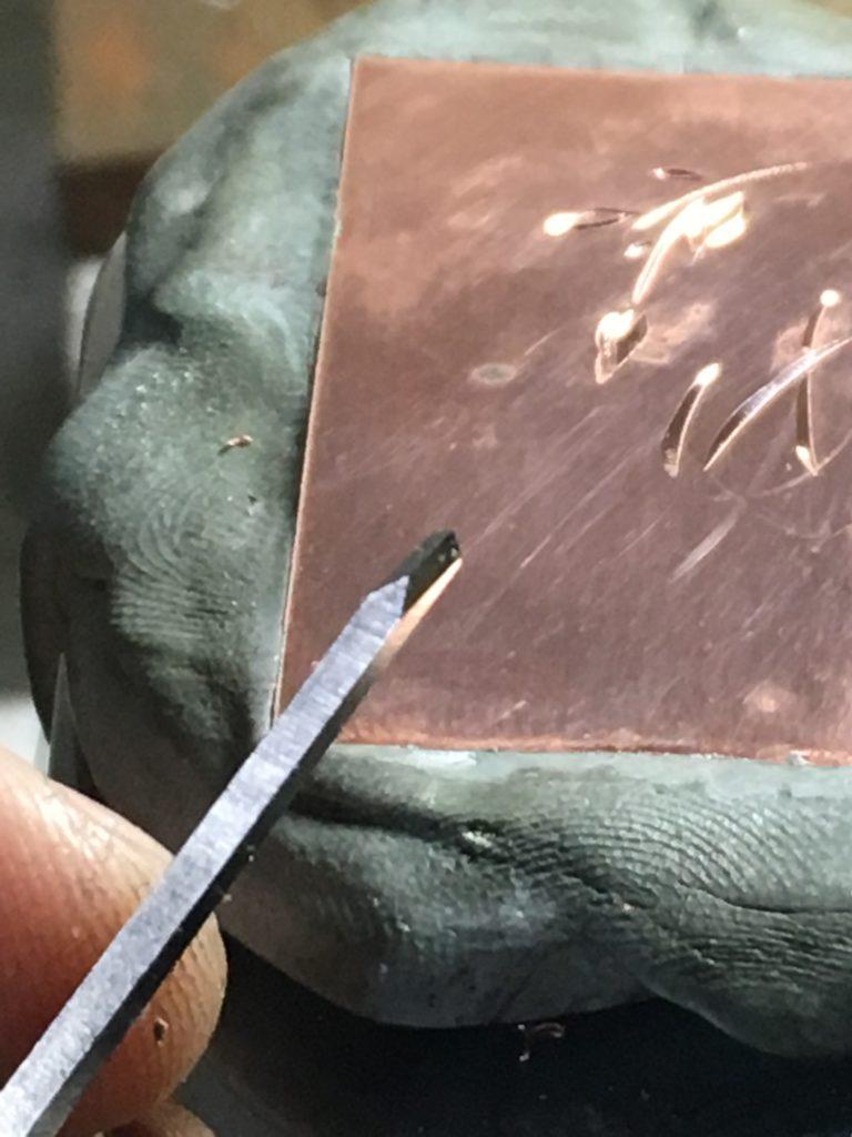毛彫りタガネ
