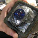 彫金腕時計