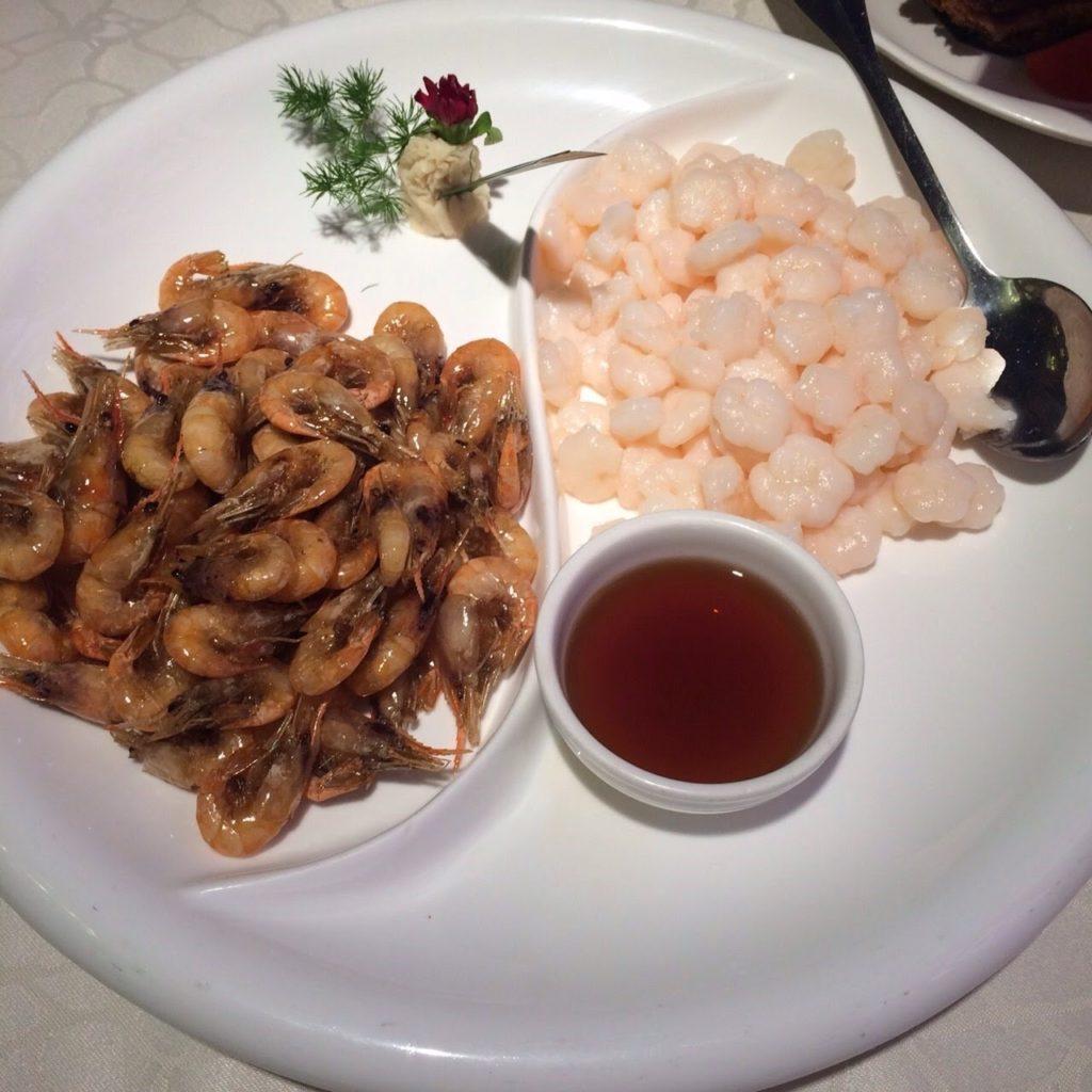 上海料理,むきエビ