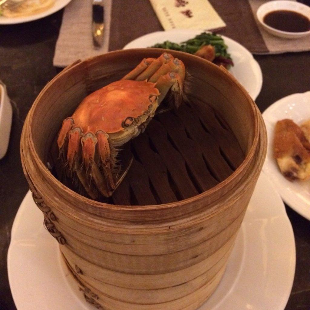 上海蟹,重ね蒸籠