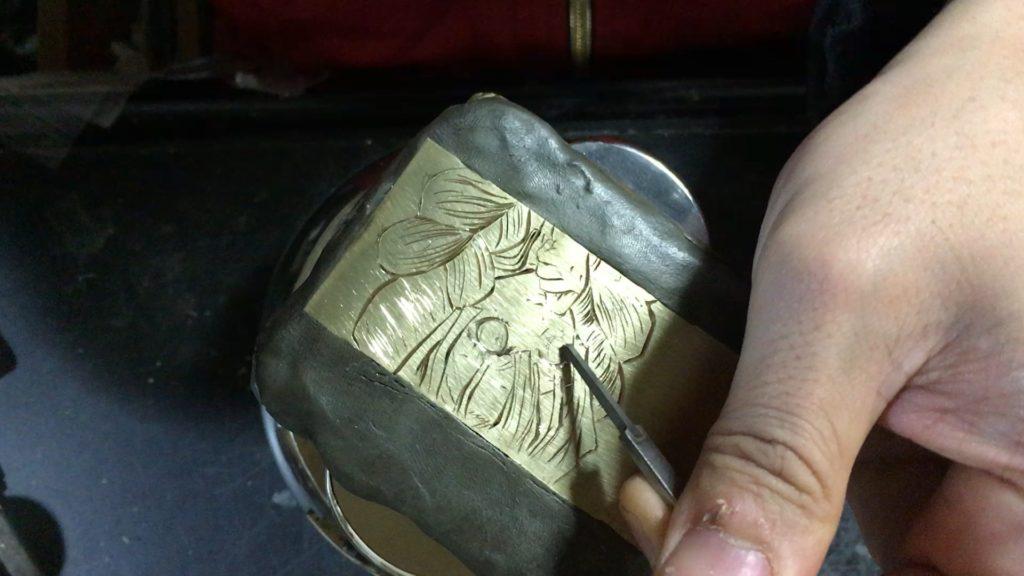 甘露寺蜜璃彫金工程、目