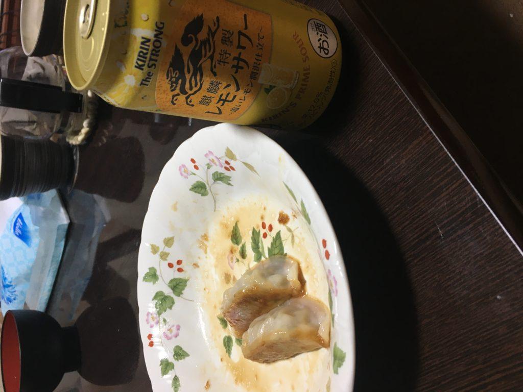 キリン・ザ・ストロングレモンサワーと餃子