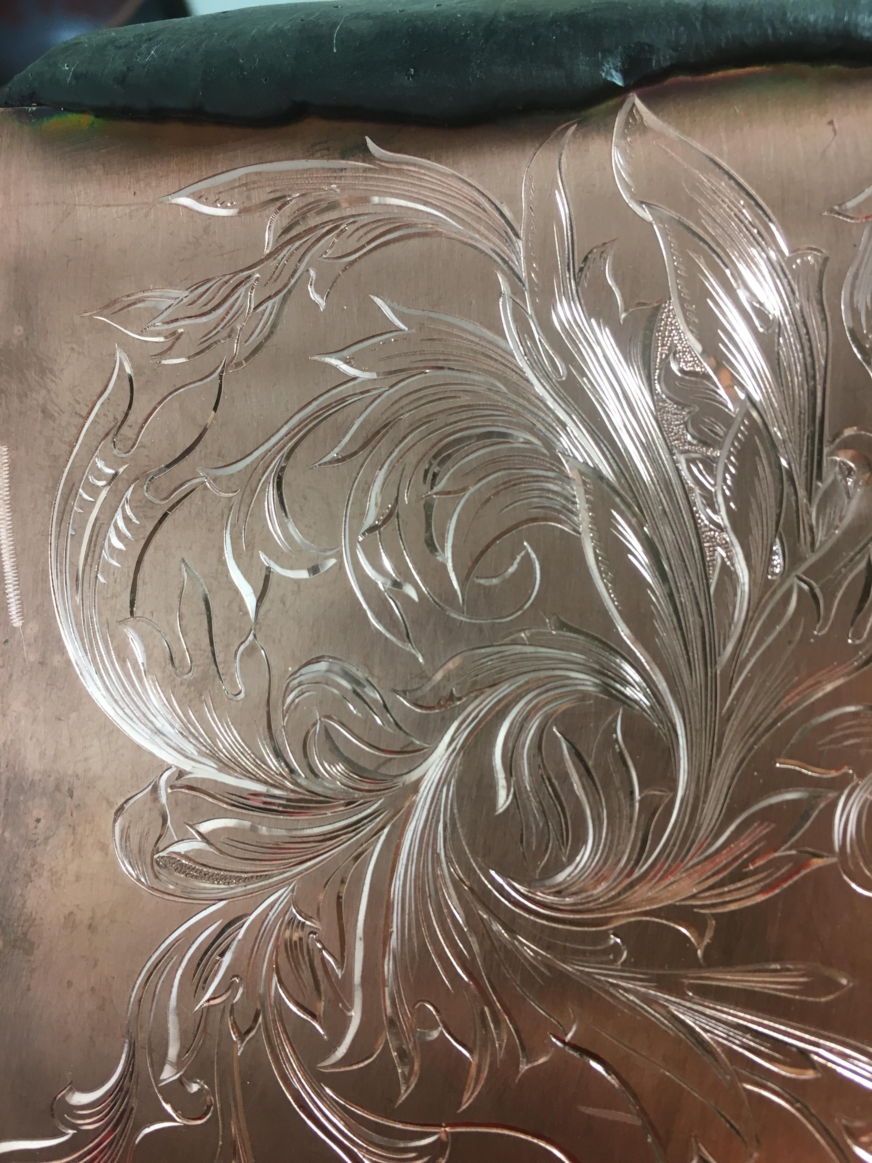IMULTA彫金師の片切りタガネ彫り方練習その6~115