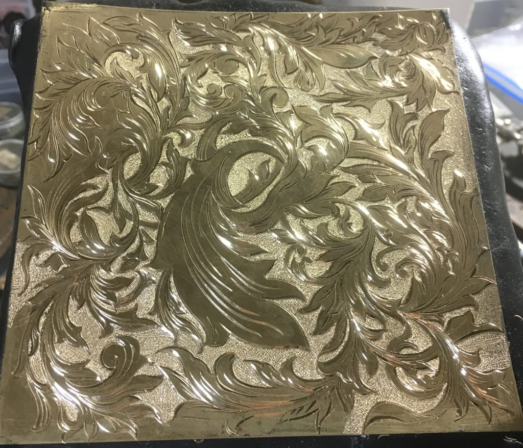 真鍮彫金パネル