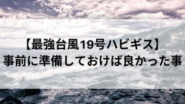 【最強台風19号ハビギス】事前に準備しておけばよかった事。