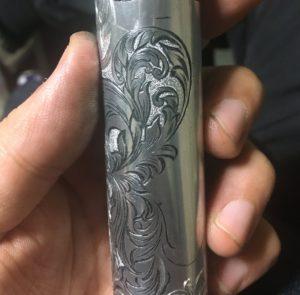 アルミ材への彫金