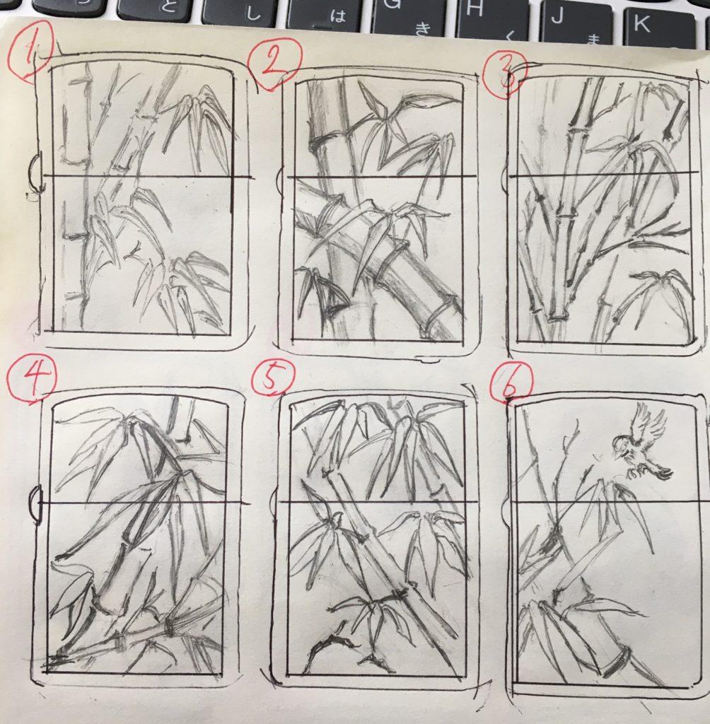 竹デザイン6種