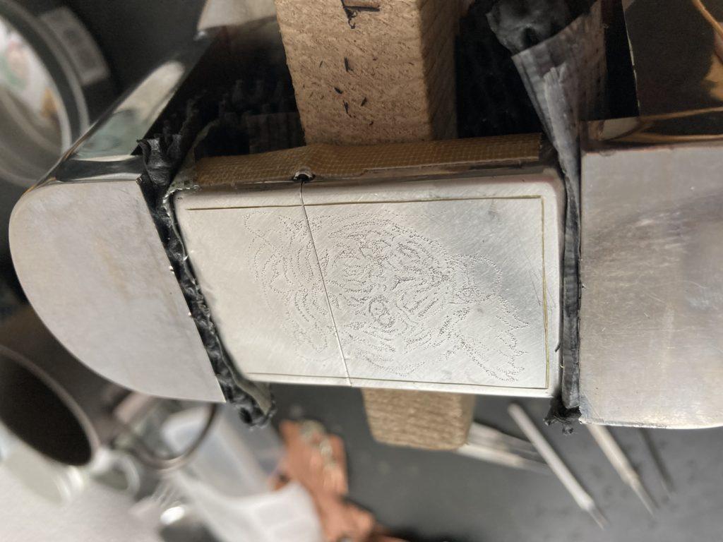 真鍮zippo彫金デザイン