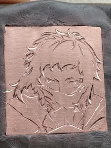 文豪ストレイドッグス芥川龍之介彫金